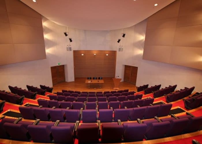 The Auditorium is the centrepiece of the Cripps Court development, with seating for 142 delegates; the auditorium provides a state-of-the-art conference venue with first class AV facilities. If required, presentations can also be relayed to other seminars rooms or recorded for playback later. The seating is very comfortable with each having its own built-in writing table. If required, we can also provide an AV Technician at an additional charge.