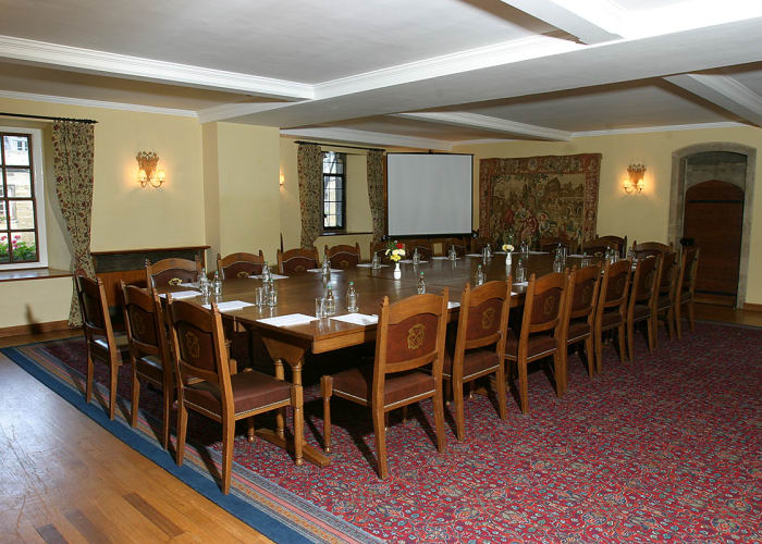 The Upper Hall is an attractive, part-panelled room which opens onto a balcony overlooking the Hall itself.  This flexible space lends itself to meetings and seminars for smaller groups.