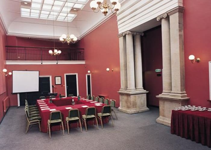 Adjacent to the Theatre, the Lubbock Room provides a useful setting for refreshments and/or exhibition space. It can also be used for smaller meetings and events.