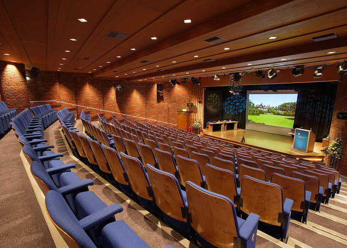 Through the use of technology, the Main Auditorium and Umney Theatre can enable a larger meeting capacity of 390 in a raked theatre style between the two rooms.  These rooms can be linked together with both sound and vision. Both theatres have a wide range of AV equipment and the services of an experienced AV Technician.  We have the ability to stream and record between theatres.