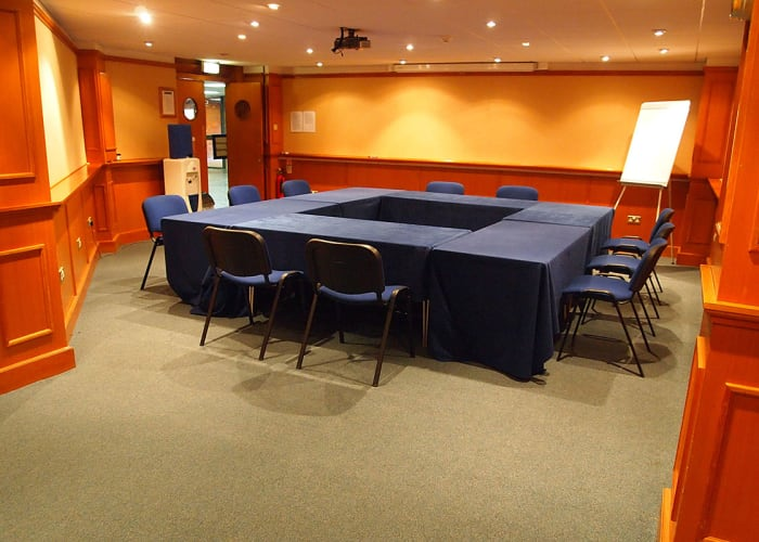 Adjacent to the Umney Theatre; convenient for registration; breakout, conference helpdesk or poster sessions; also suitable for small meetings.
