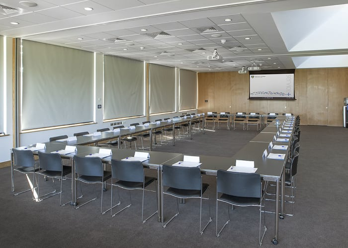 The three breakout rooms are located on the first floor, with lift and stair access and can be used as three individual spaces, each able to take up to a maximum of 18 in each area; or as one large space, to take maximum numbers of 72.