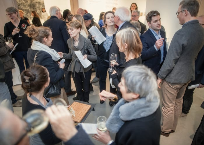 Standing galleries and drinks reception