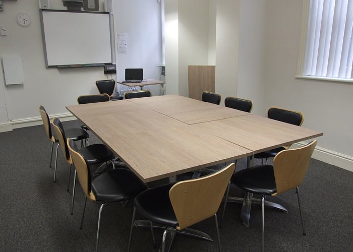 The Jesus Lane Meeting Rooms can be laid out for boardroom meetings, small lectures, or arranged in a classroom configuration for teaching sessions. Each of the rooms has inbuilt AV equipment The Jesus Lane Building is just across the road from the main site. Access is via the Cloister Court gate