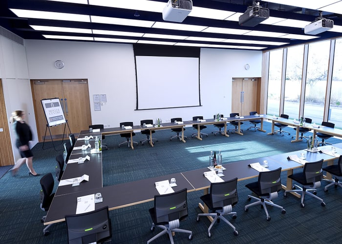 Situated in the Study Centre, the room is light and airy, features purposely designed high ceilings and easy access to the Study Centre patio.