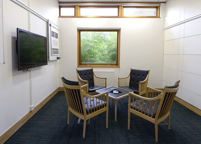 Situated within the Study Centre, this room is ideal as a breakout room or an office space.