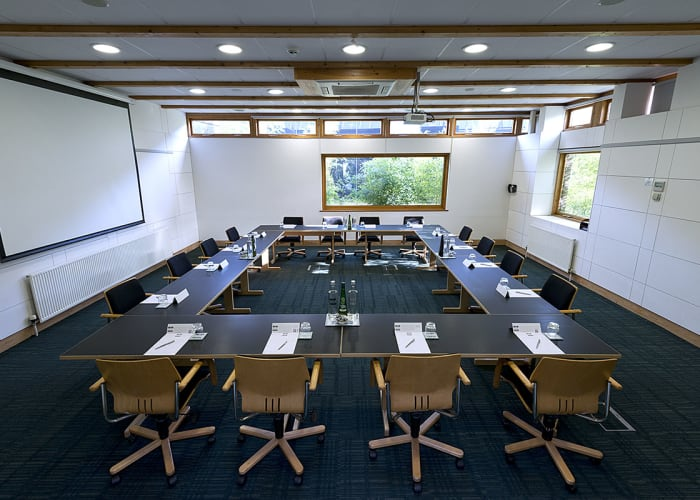 Situated within the Study Centre, this room features views across Churchill College's ground and is easy access to the outdoor space.