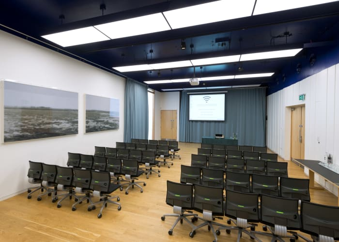 Situated within the Study Centre, this room is ideal for private dining, as well as meetings and conferences.