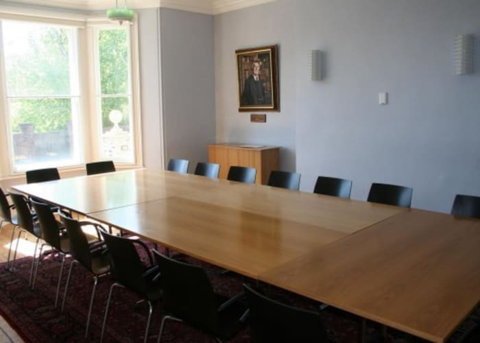 Meeting space has wooden floors, lots of natural light, air conditioning, WiFi & AV facilities, hearing loops and full disabled access. This room can seat up to 20 in boardroom style.