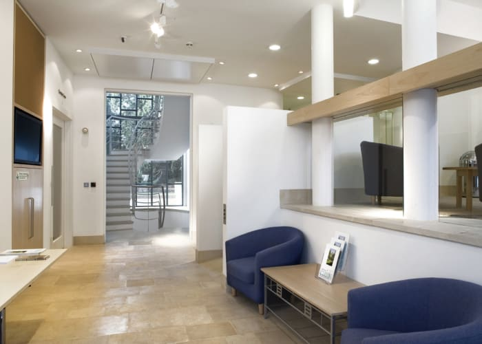 The Cavonius Centre Lounge provides registration and breakout space for the Cavonius Centre.