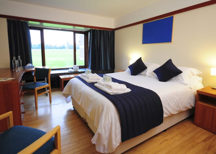 En suite for double occupancy. Our light, generous rooms are spacious, comfortable and functional. Free WiFi, hospitality tray and toiletries are included.