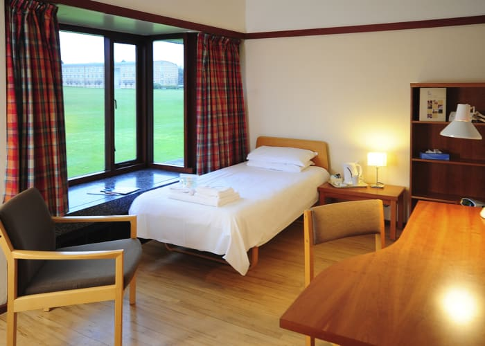 En suite room for single occupancy. Our light, generous rooms are spacious, comfortable and functional. Free WiFi, hospitality tray and toiletries are included.