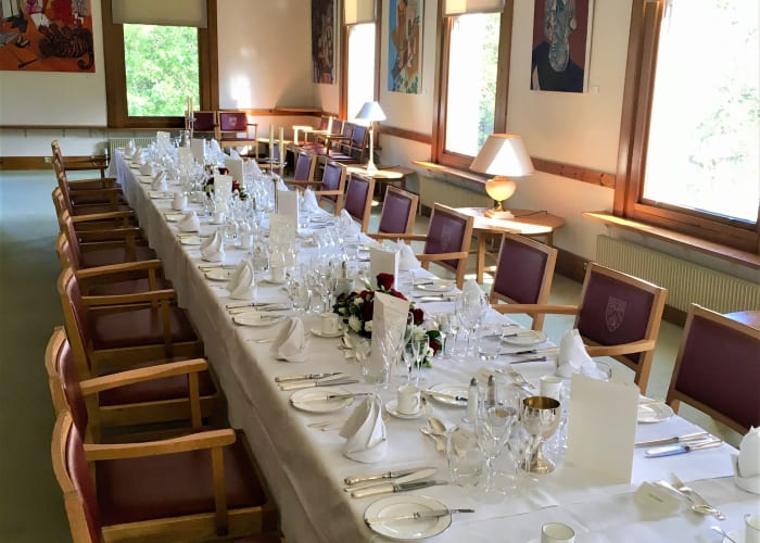 Room overlooking the front of the College, suitable for receptions up to 80 people and dinners up to 48 people.