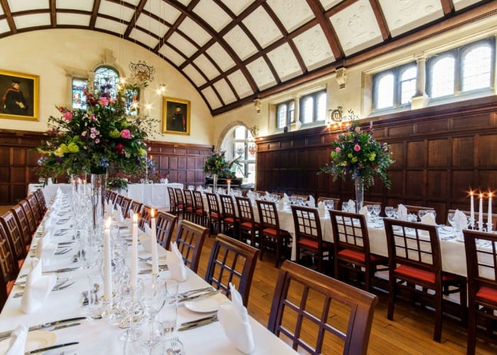 Banqueting in the Dining Hall - Long banqueting tables x 2