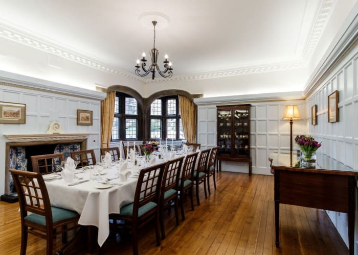 Formerly the Principal's private dining room, you can now host your intimate dining event for up to 12 guests in the Gibson Room.