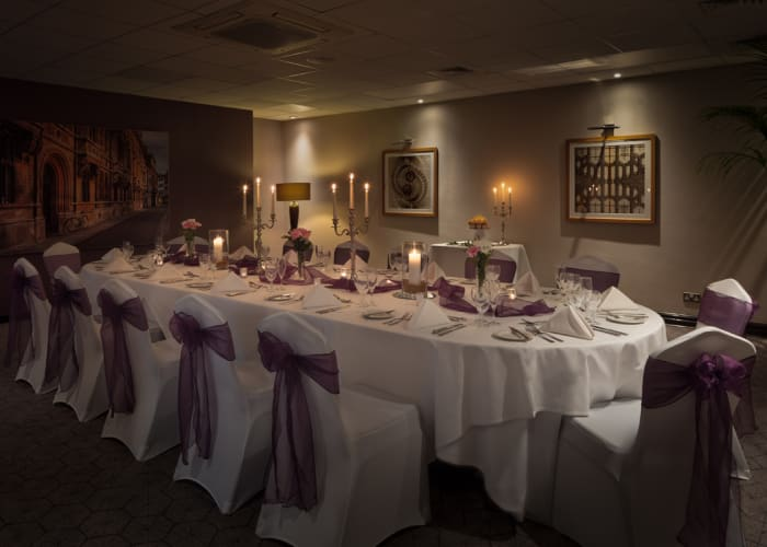 Situated in the exclusive events area the Hawking suite can accommodate up to 60 diners.
