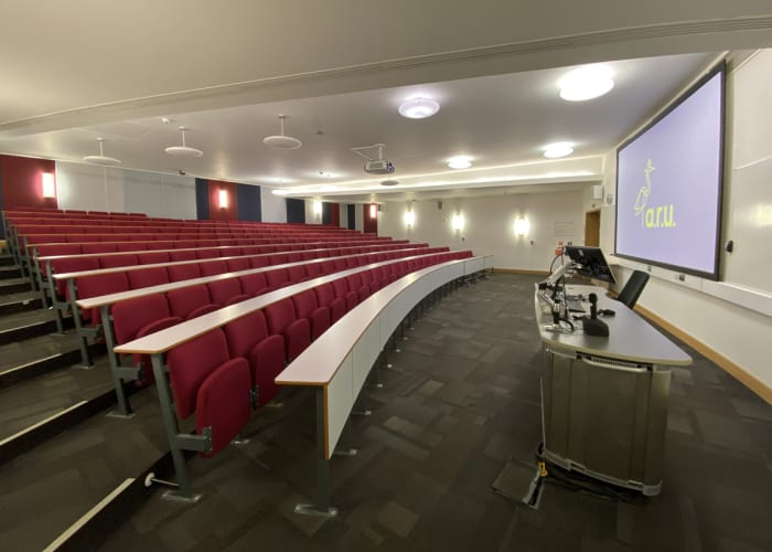 LAB 002 is a 200 seat lecture theatre located on the ground floor of the Lord Ashcroft Building