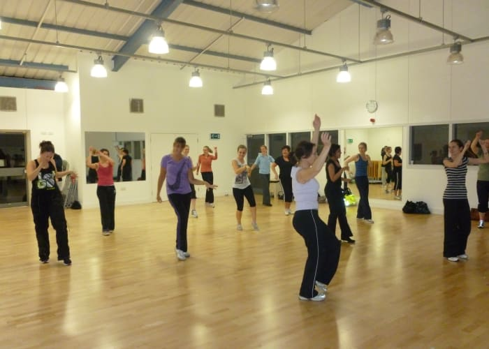 The fitness studio, a great space for yoga, pilates, karate and other fitness classes.