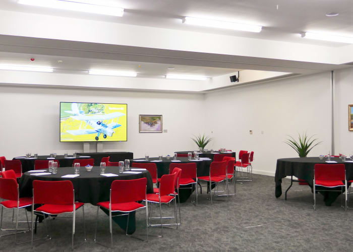 Our Concorde Suite is our largest meeting room which has the flexibility to partition into three separate meeting rooms to offer additional flexibility. Our newly refurbished Concorde Suite is light and  offers a large plasma for your IT/AV requirements.