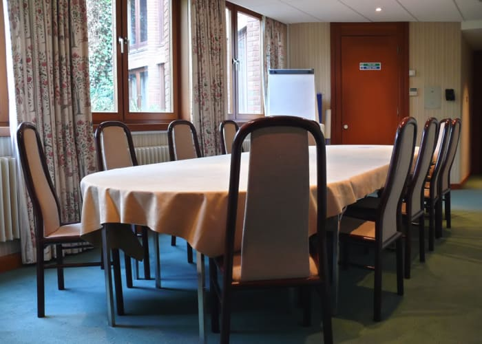 The Seminar Room is a lovely intimate space located in a quiet area of the college with views out over the gardens.