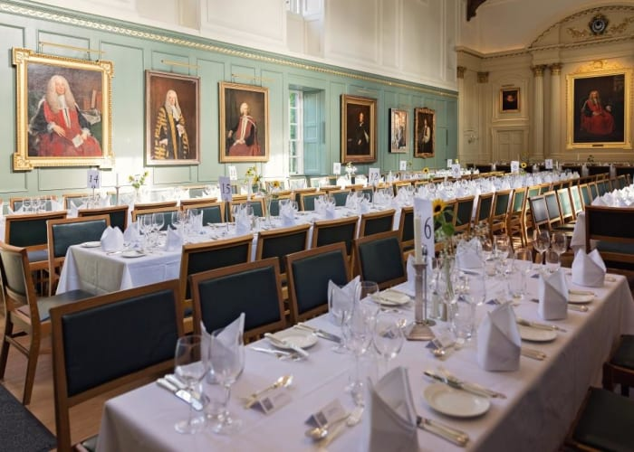 Trinity Hall's magnificent medieval dining hall