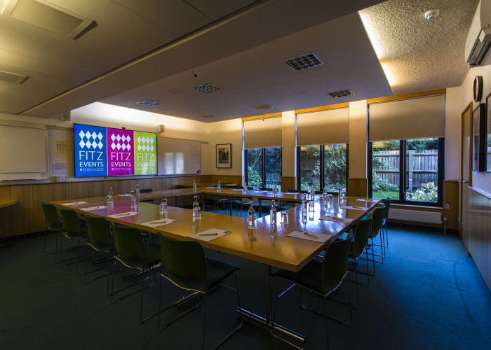 A bright, airy room located on the ground floor of Wilson Court. Able to seat up to 36 delegates, it offers an ideal space for board meetings or breakout sessions.