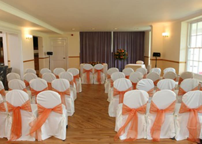 A light and airy room suitable for a variety of functions.