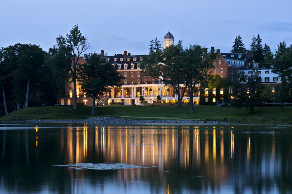 Otesaga at night from the Lake