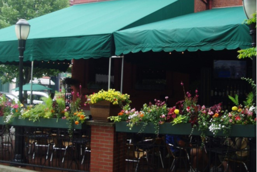Outdoor Seating with Awnings