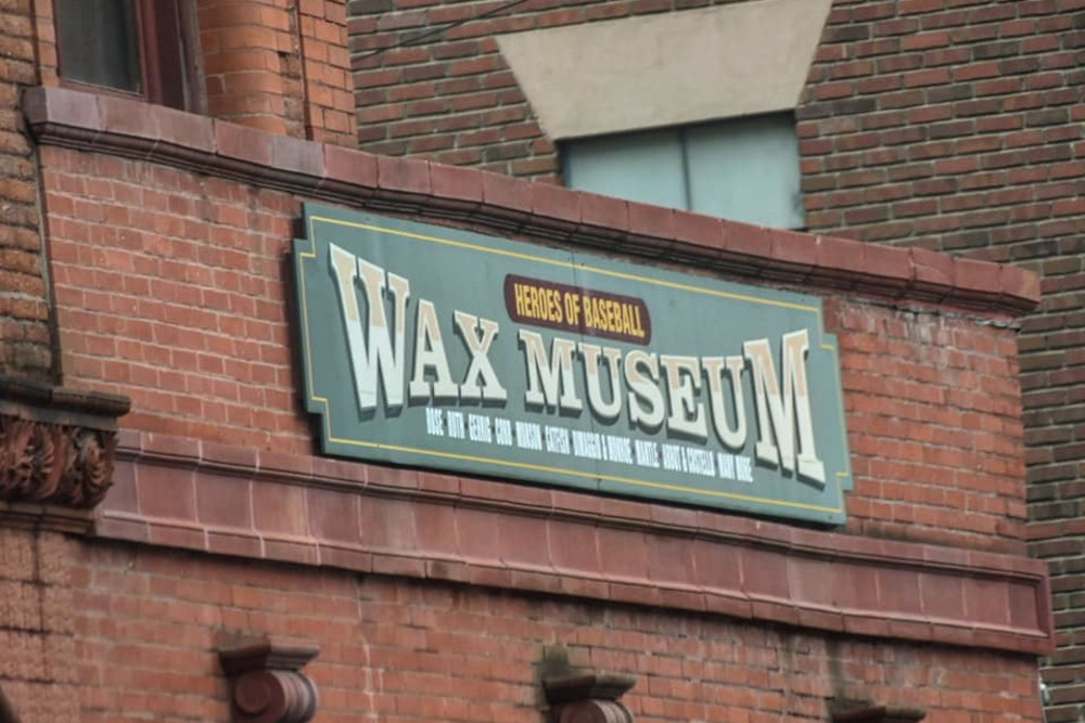 Heroes of Baseball Wax Museum Exterior Sign