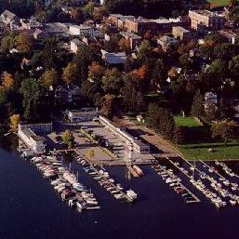 Aerial Shot of Lake Front Hotel