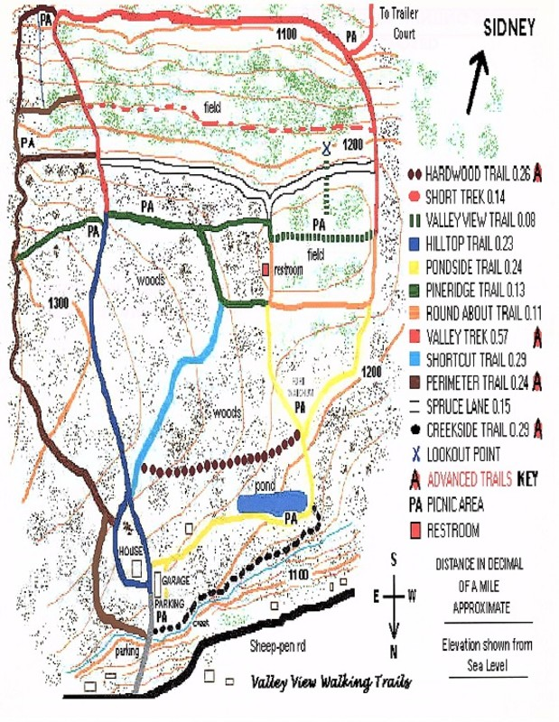 Valley View Walking Trails Map