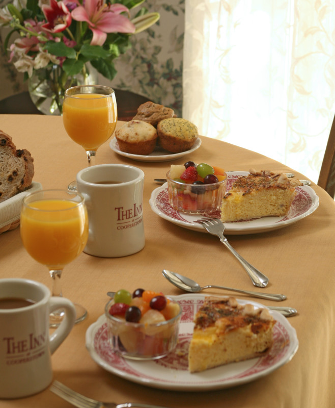 breakfast at The Inn at Cooperstown