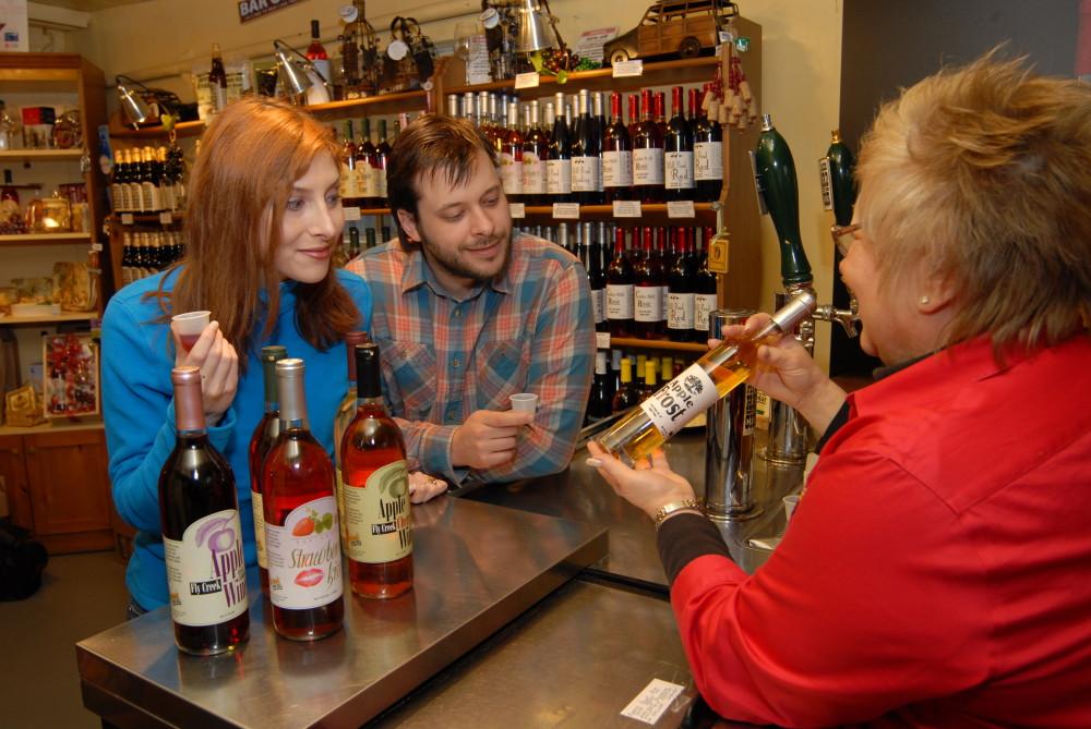 cider and wine tasting