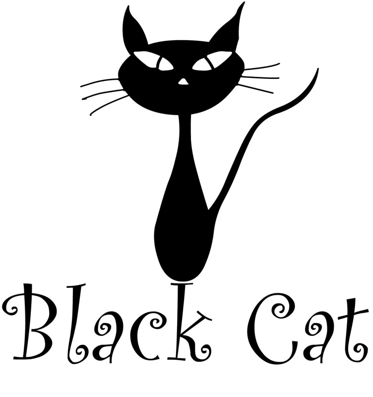 Black Cat Cafe Logo