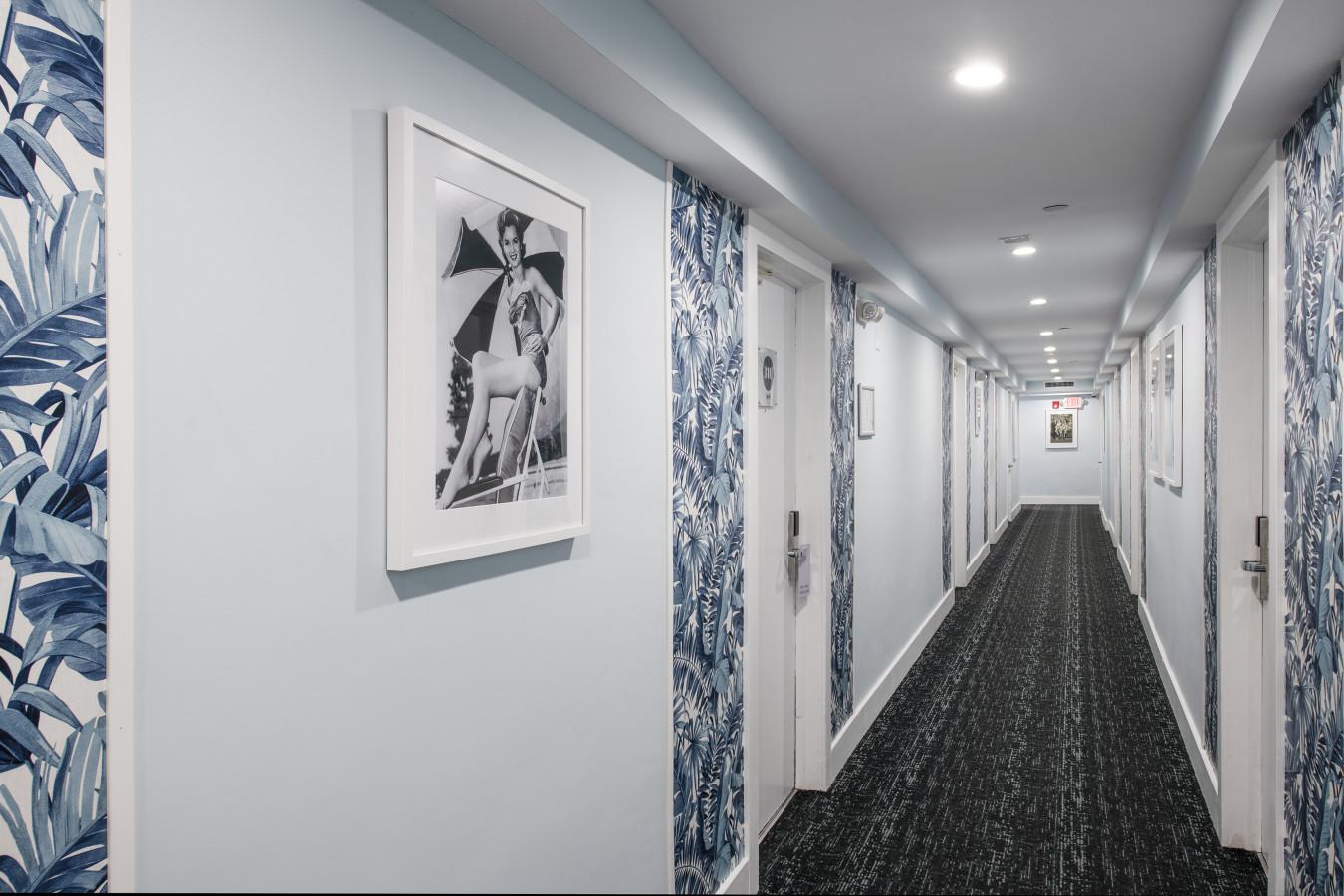 Penguin Hotel Hallway
