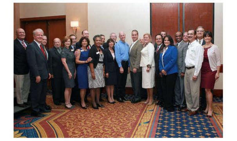 ChamberSOUTH Board of Directors with Florida Governor Rick Scott and US Congressman Mario Diaz-Balar