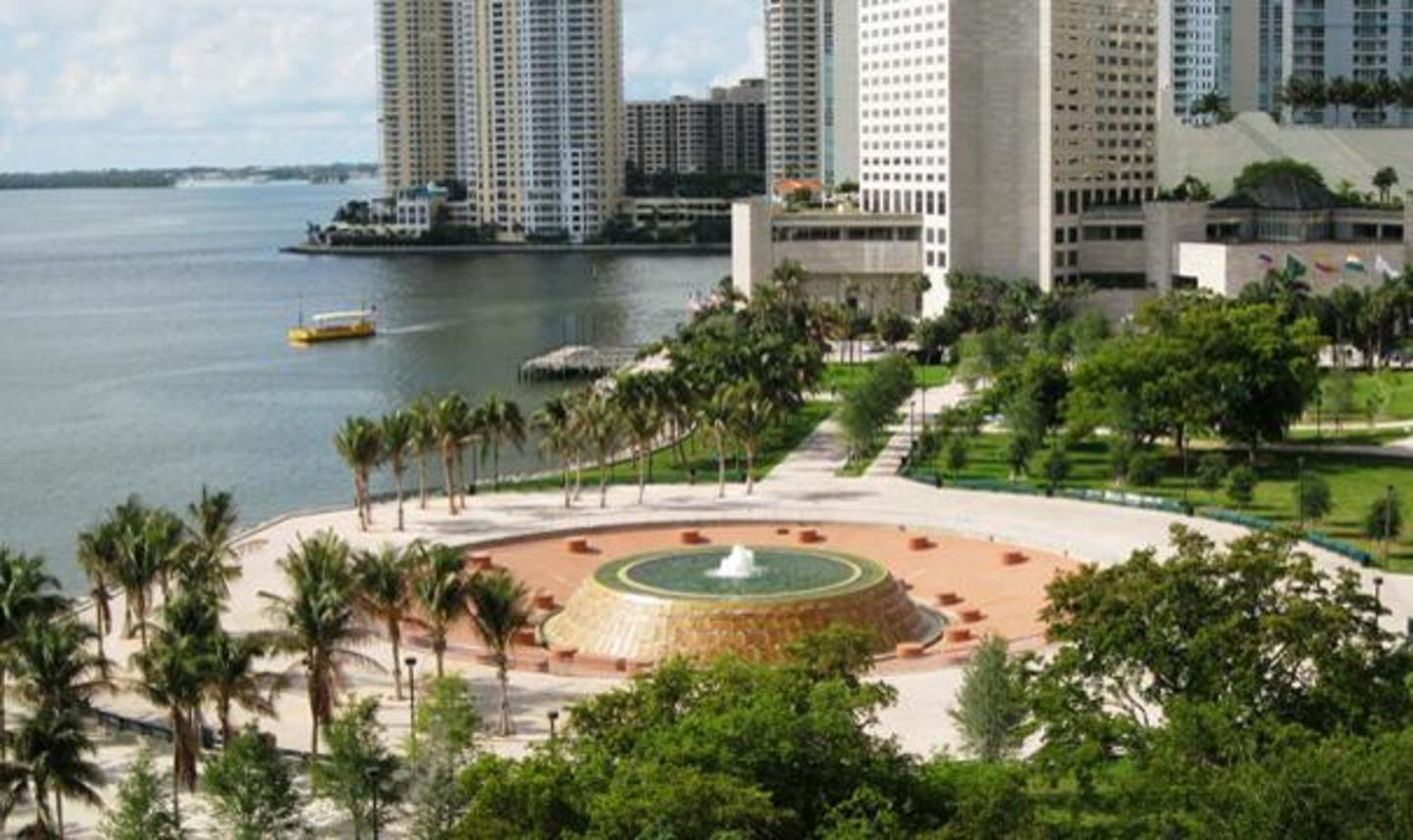 The Mildred & Claude Pepper Fountain at Bayfront Park