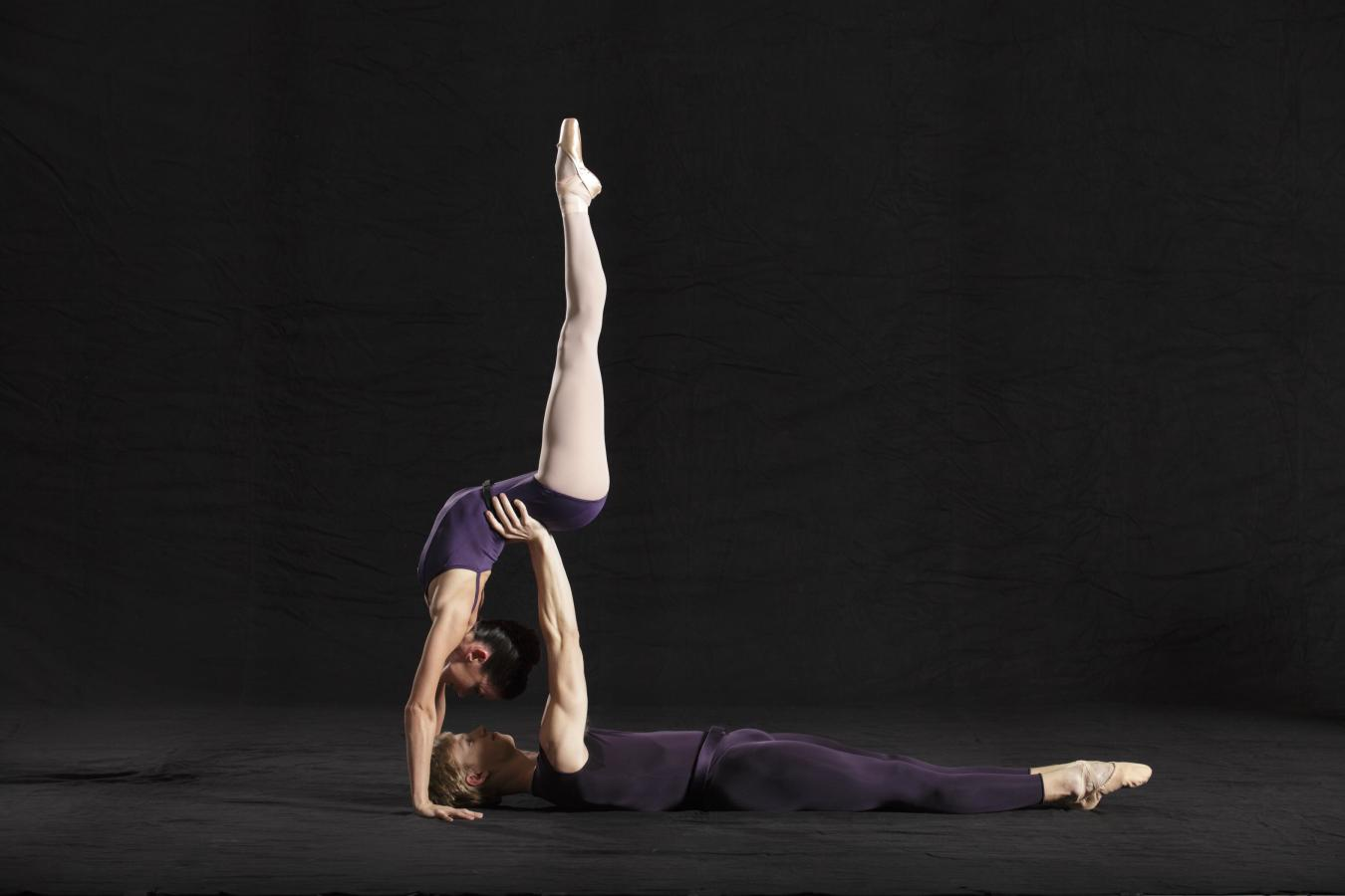Miami City Ballet dancers Chase Swatosh and Emily Bromberg in Polyphonia. Photo © Gio Alma.