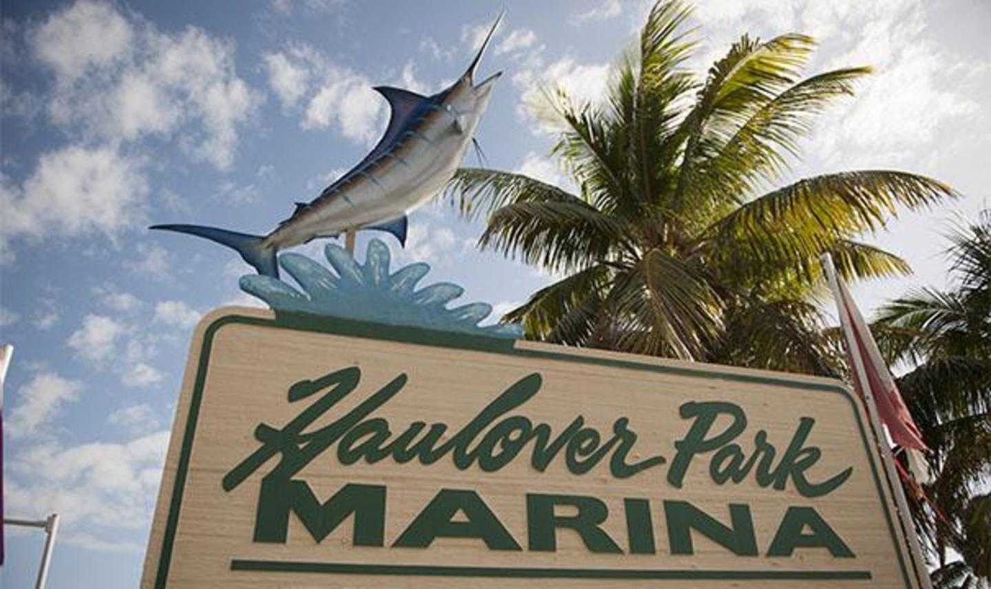 Bill Bird Marina at Haulover Park Entrance sign