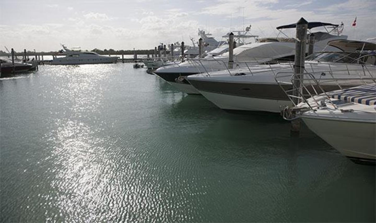 Boats at Bill Bird Marina at Haulover Park
