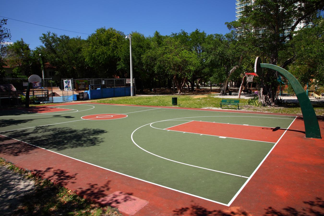 Peacock Park basketball court