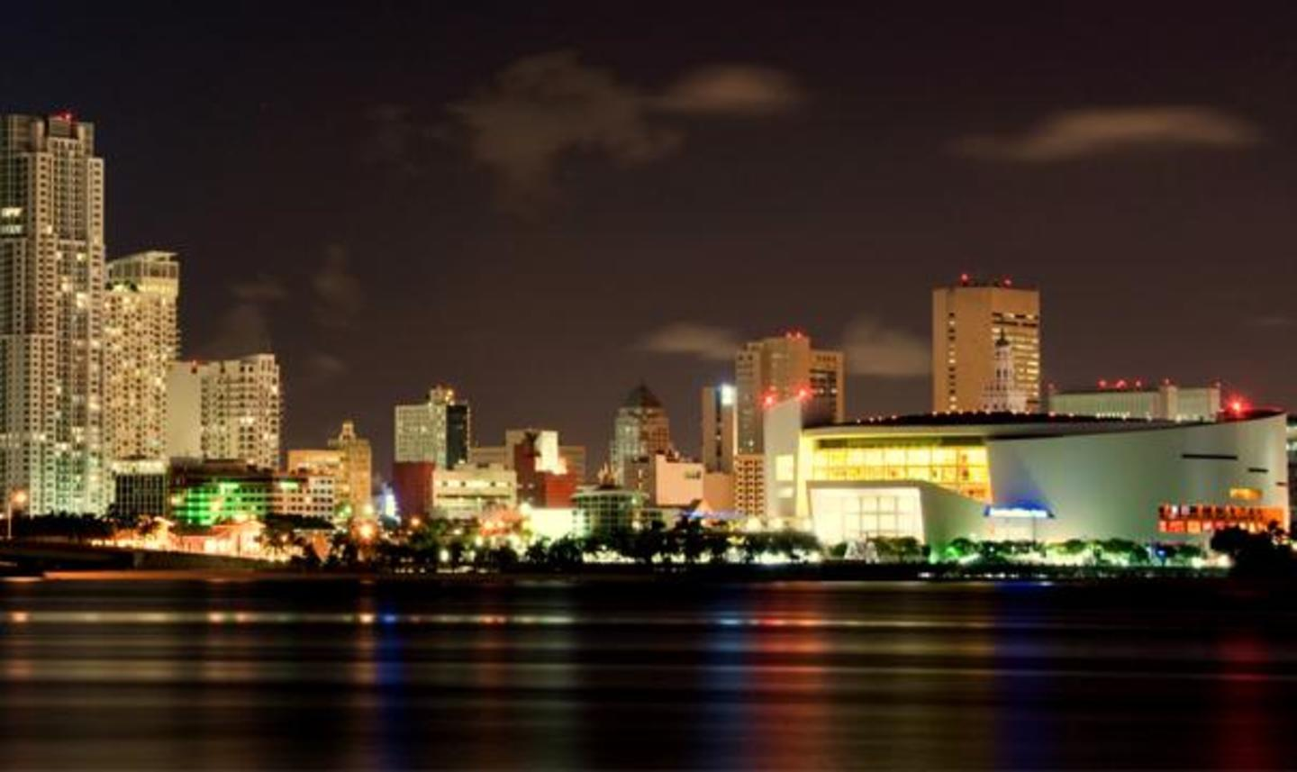 AmericanAirlines Arena Night Landscape