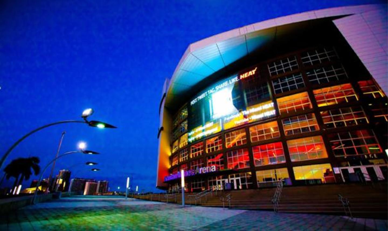 Haupteingang der AmericanAirlines Arena