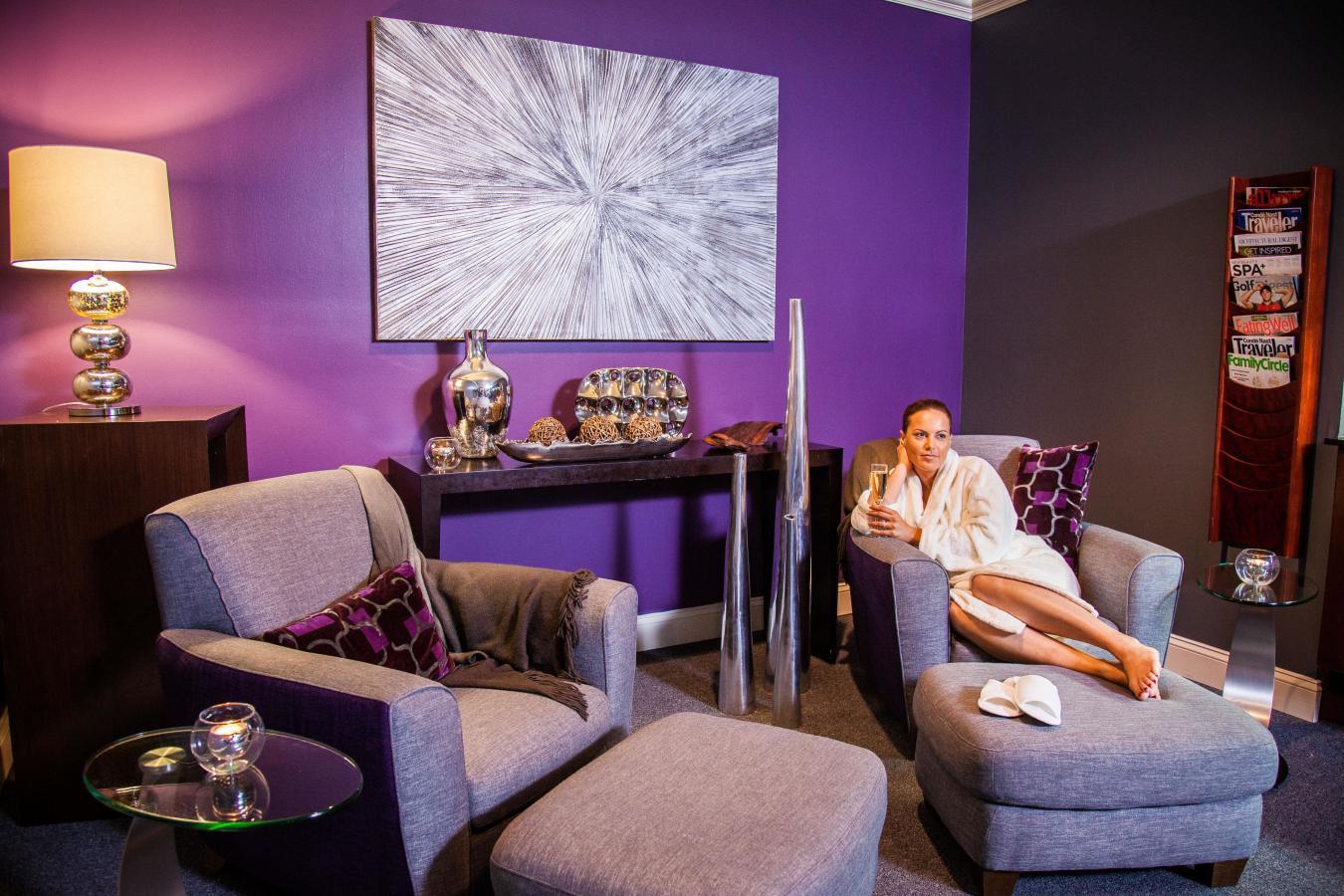 Calming Lounge en Elemis Day Spa, Merrick Park.