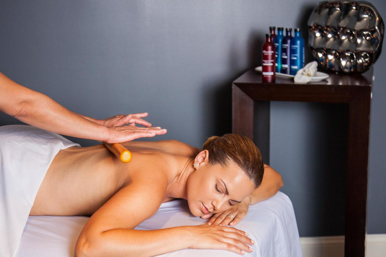 Sticks & Stones massage (Miami Spa Month) at Elemis Day Spa, Merrick Park.
