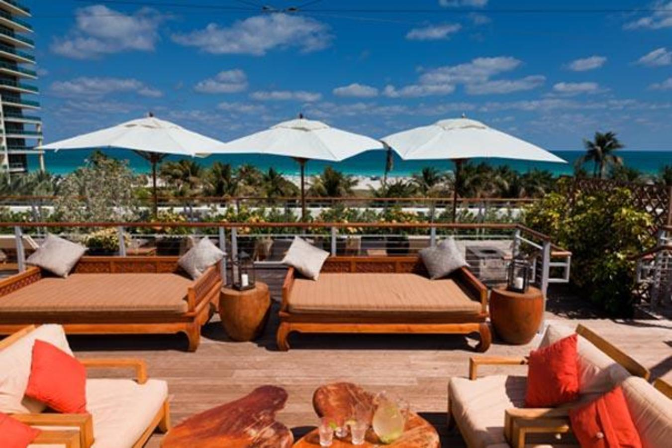 Lounge atop the hotel on daybeds after your treatment