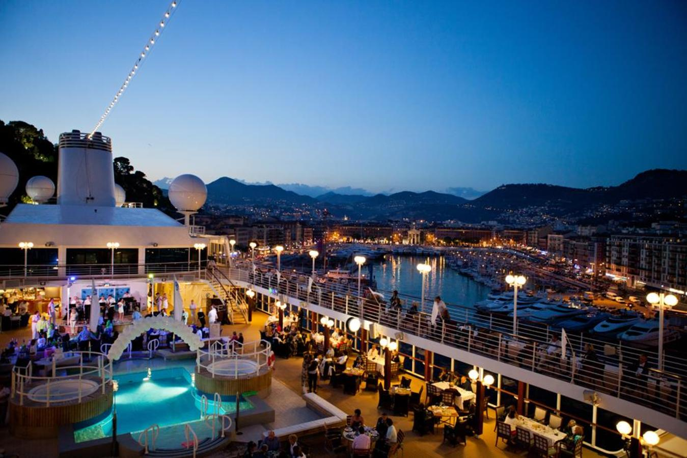 White Night Deck Party in Nice, France Harbour
