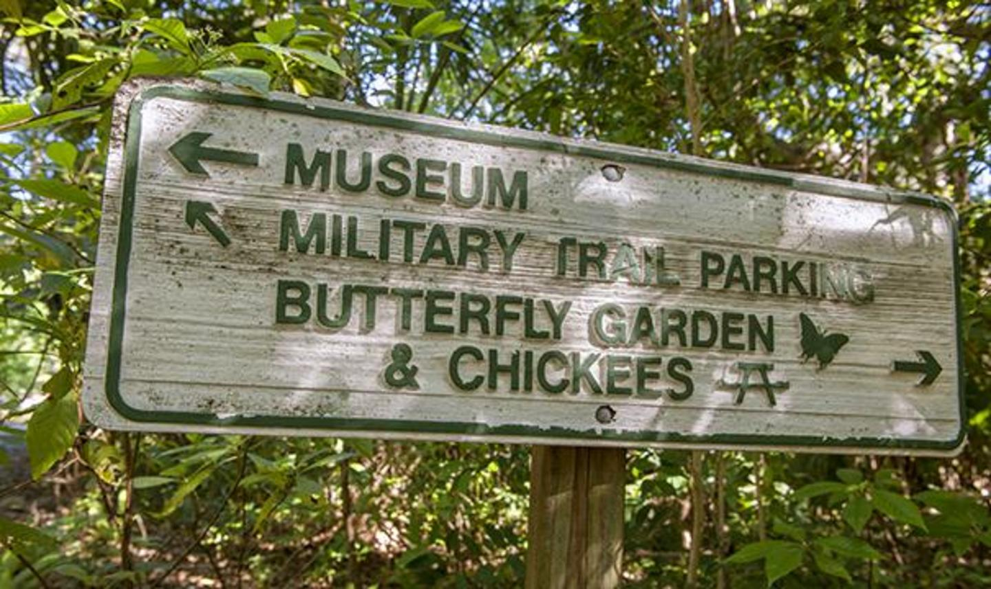 Museum Military Trail sign