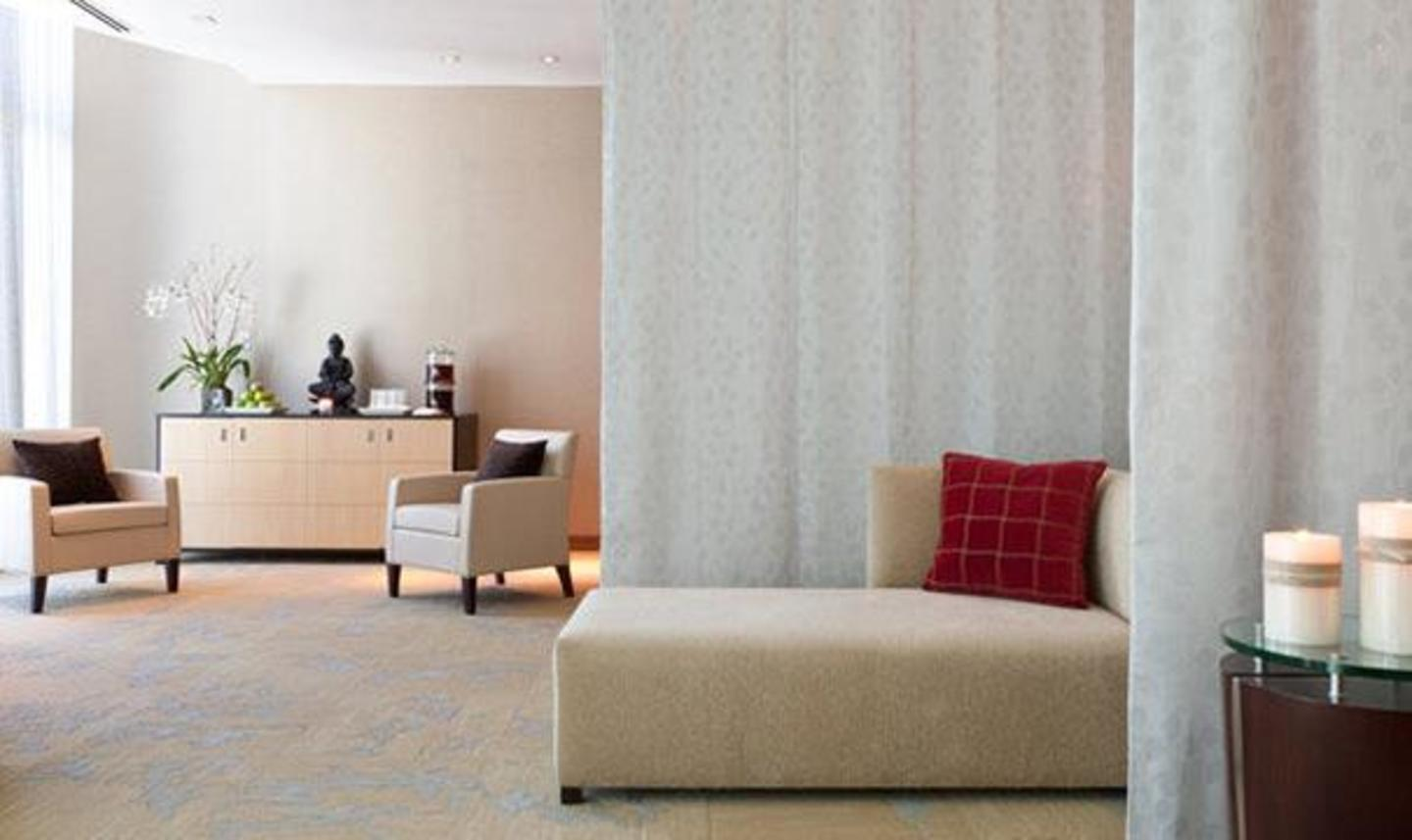 Relaxation room overlooking downtown Miami